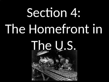 WWII - On the Home Front - PowerPoint
