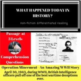WWII Operation Mincemeat Differentiated Reading Passage April 30