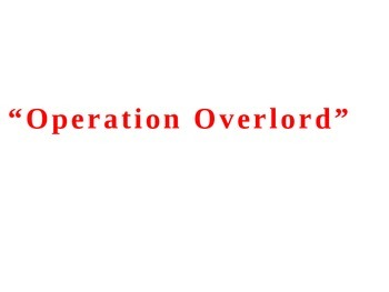 WWII: Operation Overlord