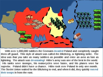 WWII Part 1:  An Interactive PPT Presentation