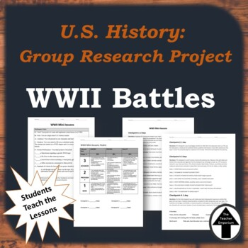 WWII Performance Task Group Project Mini Lessons WWII Battles U.S. History
