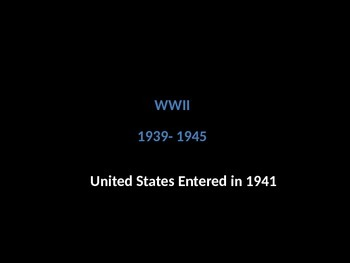 WWII Power Point slideshow