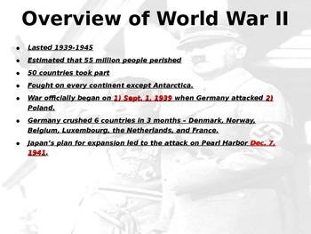 Complete WWII PowerPoint - 413 slides - Very detailed (free study guide below)