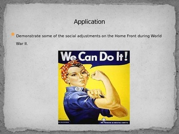 WWII PowerPoint on the Homefront