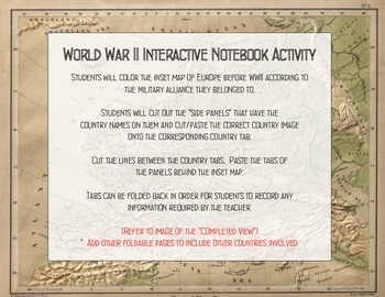 WWII Powers Interactive Notebook Activity