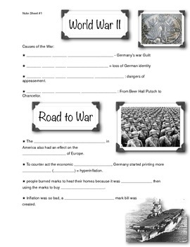 WWII Presentation Note Sheet (1 of 4)