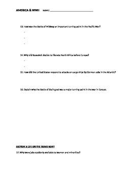 WWII Presentation Notesheet