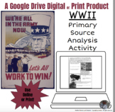 WWII Primary Source Analysis Interactive Lesson WW2 for Go