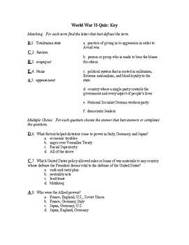 WWII Quiz