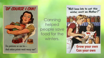 WWII Rationing and Victory Gardens PowerPoint