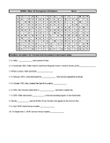 WWII: Rise of European Dictators Word Search