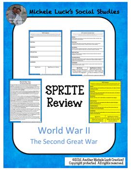 WWII SPRITE Reading & Social Studies Graphic Organizer Wor