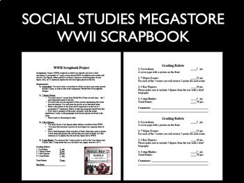 WWII Scrapbook Projects