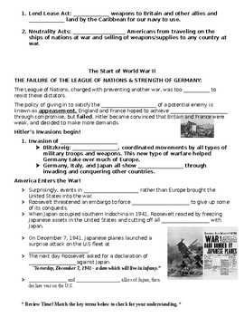 WWII Study Guide and Unit Test