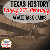 WWII in Texas Task Cards with Optional Self Checking QR Codes
