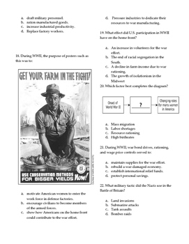 World War Two (WWII) Test