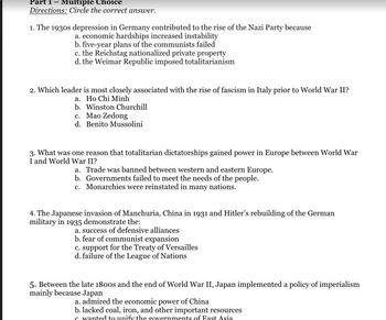 WWII Test