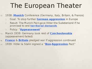WWII The European Theater PowerPoint Lecture