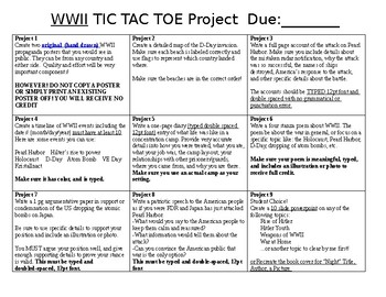 WWII Tic Tac Toe Project