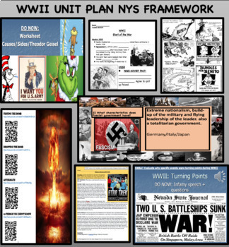 WWII WHOLE UNIT PLAN-14 LESSON BUNDLES NEW SS FRAMEWORK *SPANISH TRANSLATION*