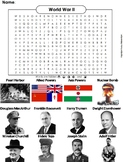 WWII Worksheet: World War 2 Word Search: Axis and Allied Powers