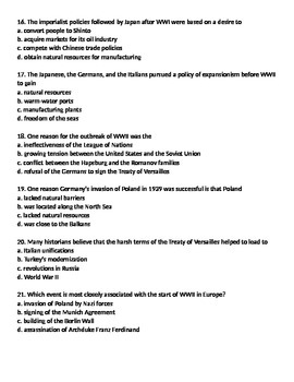 Global 2: WWII Worksheets