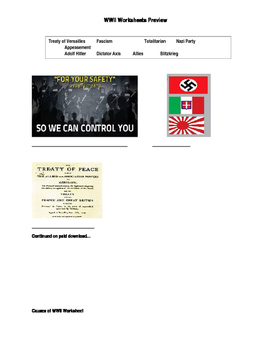 WWII Worksheets - European Theater