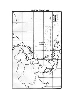 WWII: World War II in the Pacific Outline Map