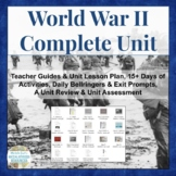 WWII World War Two COMPLETE UNIT for World History