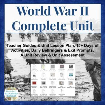 WWII World War Two COMPLETE UNIT for World History WW2