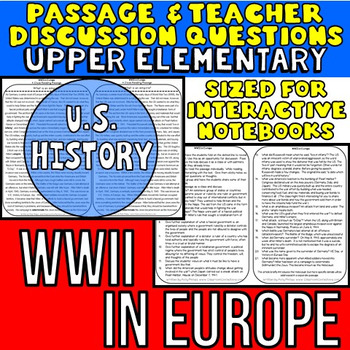 World War 2 - WWII - World War Two: Reading Passage & Teacher Questions