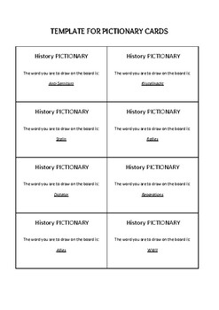 WWII and Hitler Pictionary / Flash Cards