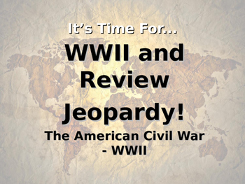 WWII and Review Jeopardy - 5th Grade