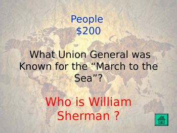 WWII and Review Jeopardy - 5th Grade GMAS