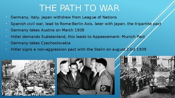 WWII- from the polish invasion to Hiroshima