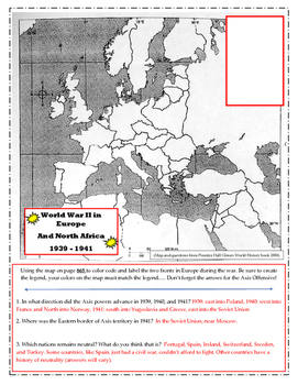 WWII in Europe Map and Questions