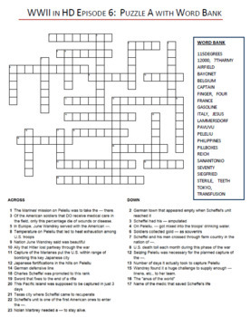 WWII in HD Crossword Puzzle Bundle: ENTIRE SERIES Episodes 1-10