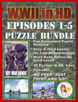 WWII in HD Crossword Puzzle Bundle: Episodes 1-5