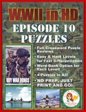 WWII in HD Episode 10 Crossword Puzzle Worksheets
