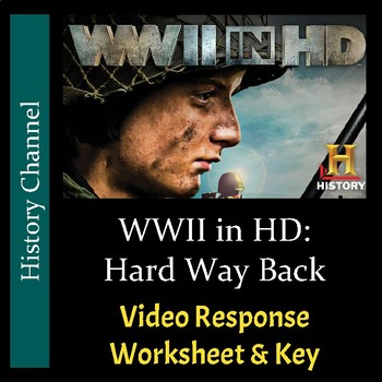 WWII in HD - Episode 2: Hard Way Back - Video Response Worksheet/Key (Editable)