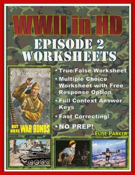 "WWII in HD Worksheets: Episode 2, ""Hard Way Back"""