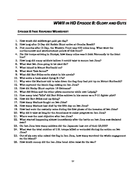 "WWII in HD Worksheets: Episode 8, ""Glory and Guts"""