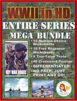 WWII in HD Worksheets & Puzzles: ENTIRE SERIES BUNDLE
