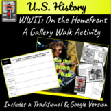 WWII on the Homefront: A Gallery Walk Activity