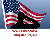 WWII project using glogster and Fakebook