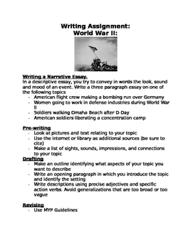 WWII writing assignment: Women, bombing of Japan, walking on Omaha Beach