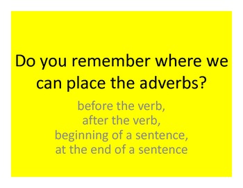 WWW5 Teaching and Practice: Simple Sentences and Parts of Speech