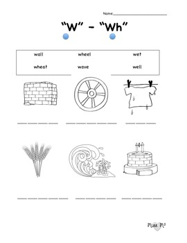 W/Wh Sound Worksheet