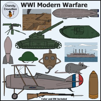 WWl Modern Warfare Clip Art by Dandy Doodles