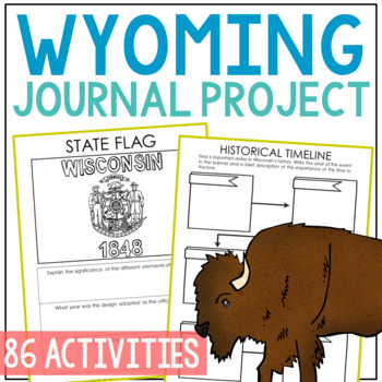 WYOMING History Project, Differentiated State Research Journal {EDITABLE}